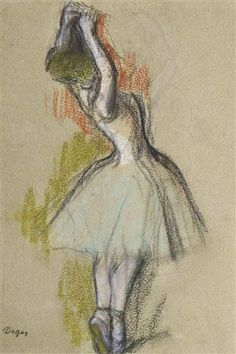 Artwork by Edgar Degas, Danseuse debout, circa 1885 Made of pastel and charcoal on paper Edgar Degas, Degas Drawings, Drawing Sketches, Art Drawings, Famous Dancers, Famous Artists, Color Pencil Art, Dance Art, French Artists