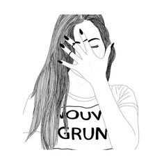 """Follow my """"outline"""" collection for more images like this?   We Heart It   girl, outline, and drawing"""