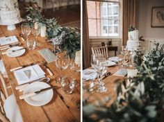 """""""With beautiful foliage at the centre of attention, a simply dressed table with a small accent of Bramley apples, which originated in Southwell, we put emphasis on the fact that you don't need to spend a fortune to create beautiful table decorations."""""""