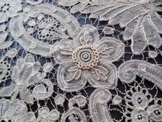 "Antique Handmade Brussels Duchesse Lace Shawl Stole 18x119"" J P Morgan VC23   eBay"