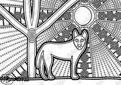 Animal Coloring Pages, Colouring Pages, Coloring Pages For Kids, Coloring Books, Aboriginal Dot Painting, Aboriginal Artists, Indigenous Australian Art, Australian Animals, Aboriginal Education