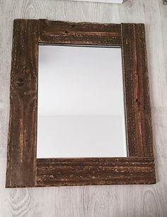 Mirror, Wooden mirror, Rustic mirror ,Rectangular mirror, Wood rustic mirror, Rectangular wooden mirror, Wood decorative mirror, Wall mirror de tossart en Etsy