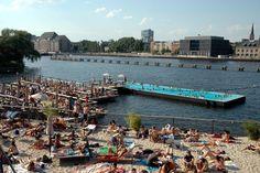 Badeschiff, the floating swimming pool in Berlin