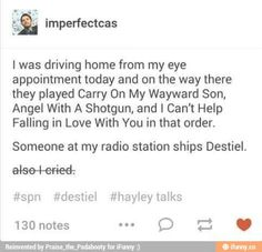 Once I was in the car with my dad and my sister and I was really tired so I…