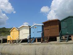 Beach huts at Frinton