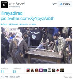 Syrian Jihadist Rebel Group ISIS Amputates Man's Hand For Stealing, Live-Tweets It…   Weasel Zippers2/28>>>