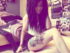 love thigh tattoos