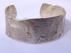 Bracelete em Prata reticulada