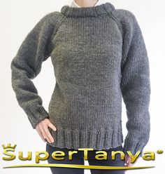 Made to order hand knitted wool sweater in grey mens by supertanya