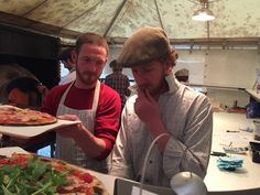 Two Gorgeous Chaps making Delish Hidden Pizza ..... most Friday nights in Gillingham Dorset! check out the HiddenPizza on Facebook!