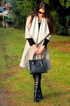 oversized coat bloggers outfit