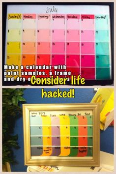 Make a calendar out of paint samples