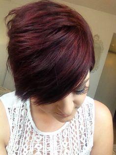 Burgundy plum hair color. Manic panic vampire red. Instagram: manda000panda