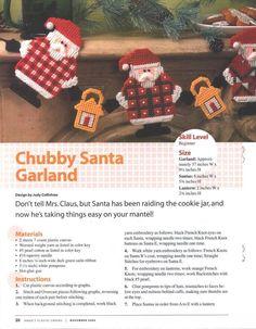 Chubby Santa garland