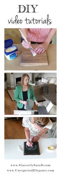 Check out these DIY Video Tutorials from Sincerely, Sara D. & Unexpected Elegance!