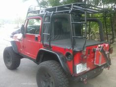 Expedition Ready Jeep Wrangler JK Expedition Rack Expedition Ready custom made expedition racks. The roof rack includes 2 rear ladders. The rack. Cj Jeep, Jeep Mods, Jeep Cj7, Jeep Wrangler Yj, Jeep Truck, Chevy Trucks, Jeep Wrangler Camping, Wrangler Sahara, Jeep Wrangler Accessories