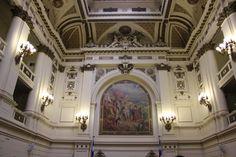 Salón de Honor, Ex Congreso Nacional Santiago. Y pensar que los ángeles que se encuentran arriba, los restaure yo :) Mayo 2014