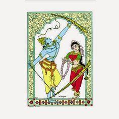 ramayan paintings in indian arts - Yahoo India Image Search results Indian Folk Art, Indian Artist, Indian Ethnic, Phad Painting, Indian Art Gallery, Art Folder, Madhubani Art, Krishna Art, Krishna Statue