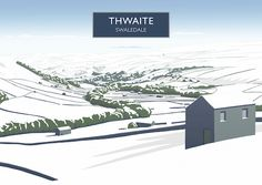 Inspired by mid century travel posters, this superb hand-drawn digital art print of Swaledale by Richard O'Neill makes a great gift and is perfect for framing. All prints are individually signed by the artist. Gloucester Cathedral, Lighthouse Art, Snow Art, Cross Art, Railway Posters, Cottage Art, Travel Illustration, Contemporary Landscape, Vintage Travel Posters