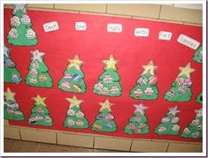 saved: google docs. The students pulled an index card with numbers for a fact family. They placed the numbers on the stars and wrote the addition and subtraction problems on the ornaments. The First Grade Parade had this as a math station. After we completed the station in small groups we completed the trees whole group.