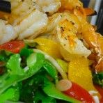 Grilled Shrimp and Summer Salad with Orange Vinaigrette