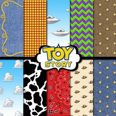 Toy Story Inspired Digital Paper Cowboy por TheArtBoxDesigns
