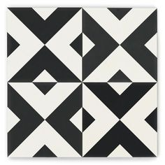 Cement Tile Shop - Encaustic Cement Tile: In Stock Cement Tile Floor Patterns, Tile Patterns, Zentangle, Black And White Quilts, Black White, Concrete Cement, Cement Tiles, Mosaic Tiles, Artistic Tile