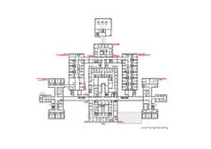 Image 23 of 30 from gallery of Avila Hospital / EACSN. Photograph by Miguel de Guzmán Hospital Floor Plan, Exams Memes, Healthcare Architecture, Image 30, Ground Floor Plan, Floor Plans, Flooring, How To Plan, Emperor