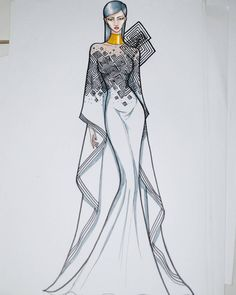 Dress Design Sketches, Fashion Design Sketchbook, Fashion Design Drawings, Fashion Sketches, Coco Fashion, Fashion Art, Fashion Desinger, Fashion Illustration Dresses, Fashion Figures