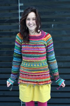 Handmade bright and colorful sweater by TASSSHA on Etsy, $230.00