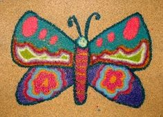 crayon melted on sandpaper
