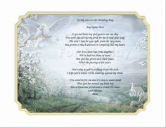 Wedding Prayer Personalized Gift Keepsake and Remembrance | Creationsbyfrannie - Print on ArtFire