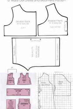 Free Printable Doll Clothes Patterns - Bing images