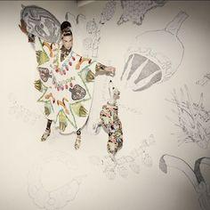Amazing illustrated fabrics by Swash
