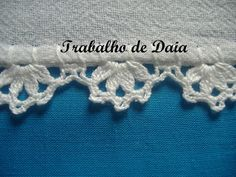 Fotoğraf: Trabalho nº 20 - Pano de prato com bico de crochê.
