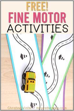 Free Fine Motor Activities for Kids