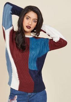 Patchwork Your Magic Sweater, #ModCloth