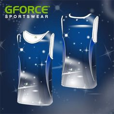 This moody blue men's athletic vest made our design of week in Team Wear, Athletics, Design Your Own, Dance Wear, Vest, Stars, Blue, Clothes, Kleding