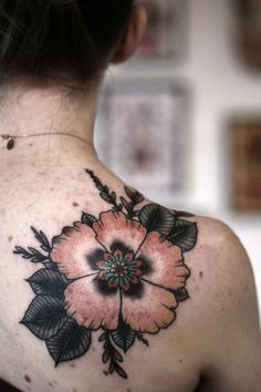 fuckyeahtattoos: floral cover up tattoo by alice carrier at anatomy tattoo in portland, oregon