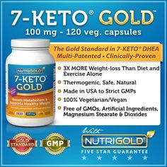Nutrigold 7-Keto 100mg, 120 Vegetarian Capsules - Beauty Shopping Pro : Top Skin Care Products - WeightLoss Products