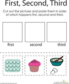 Worksheets: First, Second, Third: A Baking Challenge