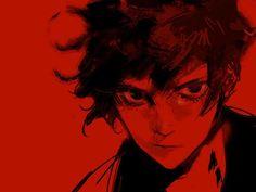Ren Amamiya, P Words, Joker Pics, Akira Kurusu, Persona 4, Red Art, Go To Sleep, Manga, Art Reference