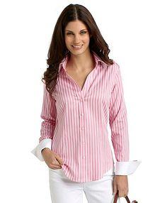 5aeedd1d50c327 Cotton Stretch Fitted Stripe Dress Shirt