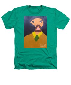 Patrick Francis Kelly Green Designer Heathers T-Shirt featuring the painting Portrait Of Eugene Boch 2015 - After Vincent Van Gogh by Patrick Francis