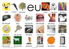 plaat eu Letter School, Learn Dutch, Dutch Language, Kids Writing, Phonics, Grammar, Spelling, Homeschool, Knowledge