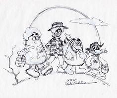 Artist Greg Winters illustrated skiing McDonaldland