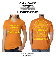 #CAsSurf | California T-Shirts | California -- Available for Retail Stores! Choose from over 300 surf locales from the mighty Pacific Ocean to the magical Sea of Cortez aka Gulf of California. Also, pick your own custom shirt/print color combos from a wide selection. Inquiries: info@GoCalifornias.com #baja #california #tshirts #surf