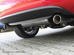 Stainless Steel Exhaust with Special End Pipes, Mazda MX5 Mk3