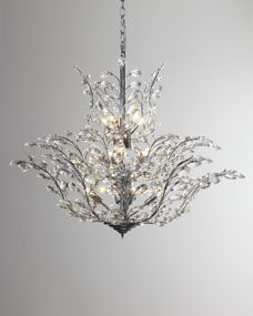Upside down 18 light crystal chandelier chandeliers crystals and upside down crystal chandelier horchow with cascades of crystal flowing to the top this upside down chandelier adds a unique twist to an aloadofball Image collections