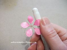 Spring wire necklace with nail polish       PDF guide     PDF guide                   Materials:       nail polish   wire ( 0,4 mm)   ...